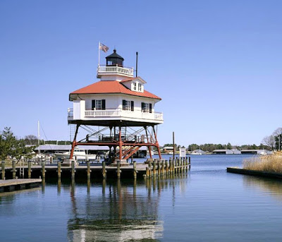 The Drum Point Lighthouse in Solomons Maryland