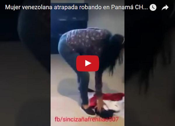Atrapan a dos Venezolanas robando tienda en Panamá
