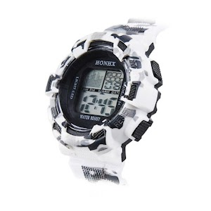 HONHX Men's Digital LCD Stopwatch Date Rubber Sport Wrist Watch Jam Tangan Pria