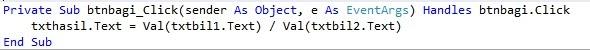 bagi - Tutorial Menciptakan Kalkulator Dengan Visual Studio 2012