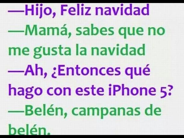 iphone meme navideño
