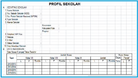 Download Format Profil Sekolah File Excel Pendidikan Kewarganegaraan