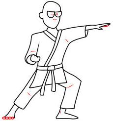Langkah 7. Super Simpel Menggambar Karateka