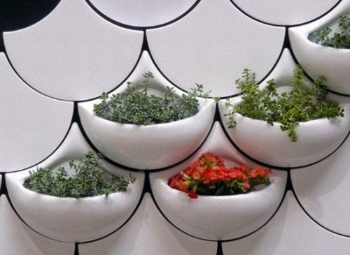 Fish Scale Wall Planter