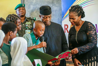 Osinbanjo Tells Pupils In Primary School That Being The Vice President Is Not Easy