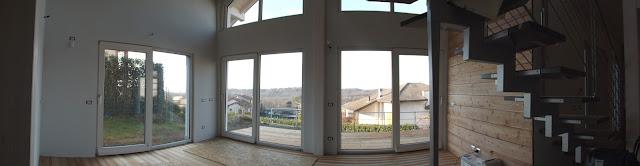 casa di legno panoramica