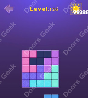 Cheats, Solutions, Walkthrough for Move Blocks Easy Level 126