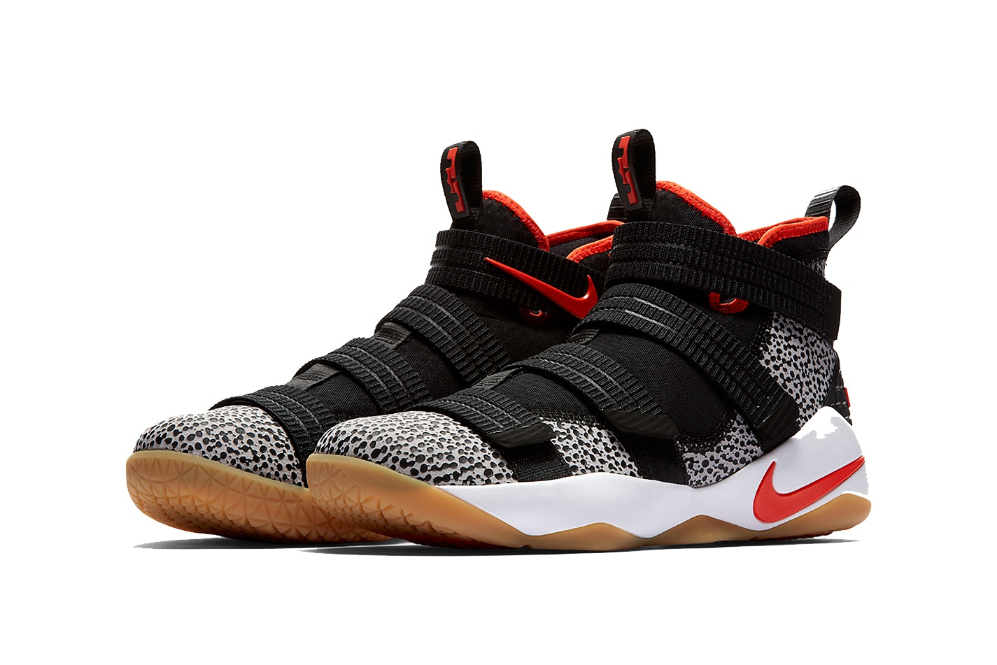 """36b5e2b8aeb9c Nike has reworked its LeBron Soldier 11 shoe once more, this time releasing  the model in the classic """"Safari"""" colorway that the Swoosh has been using  ..."""