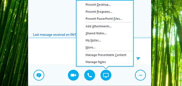كيفية مشاركة شاشتك على سكايب