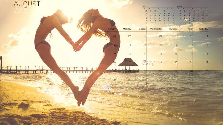 Wallpaper: 2015 Calendar: August