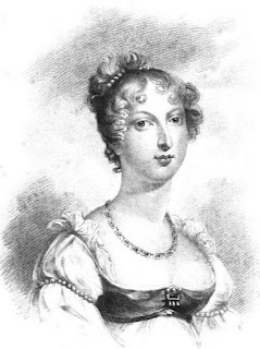 Princess Charlotte of Wales  - for whom More's Hints (1805) were written  from La Belle Assemblée (1816)