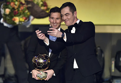 1c - Lionel Messi wins Ballon d'Or for fifth time - more pictures
