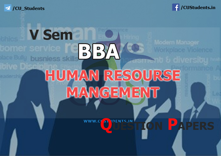 5sem BBA Human Resource Management Previous Question Papers