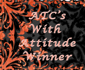 I won ATCs and cards with attitudes challenge