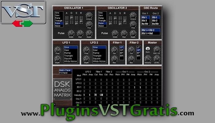 DSK Analog Matrix - Plugin Sintetizador Grátis