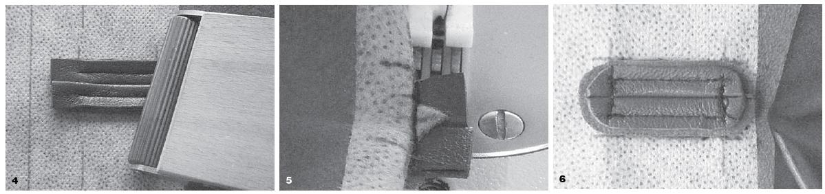 Особенности работы с кожей. Швы, обтачанная петля, карман в рамку
