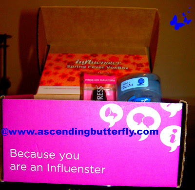 Influenster Spring Fever 2013 VoxBox, beauty, Secret Outlast Clear Gel Antiperspirant, NYC New York Color Applelicious Glossy, Broadway Nails imPRESS Press-on Manicure, OSIS Rough Rubber, Tastykake Kandy Bar Kakes