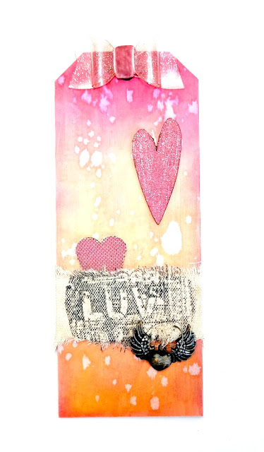 Long Luv Chipboard Tag for Valentine's Day by Dana Tatar for Tando Creative