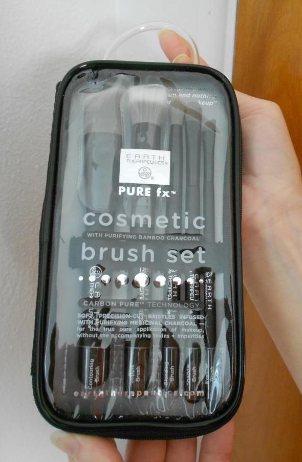 Earth Therapeutics Charcoal Cosmetics Brush Set