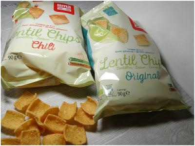 les chips véganes à la farine de lentilles de LIMA