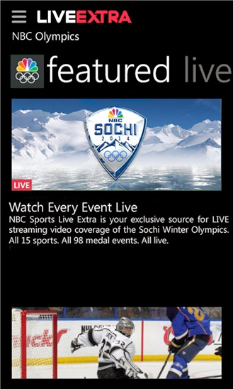 NBC Sports Live Extra for Windows Phone available for free download