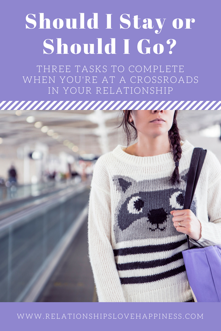 Should I Stay or Should I Go?: Three Tasks to Complete When