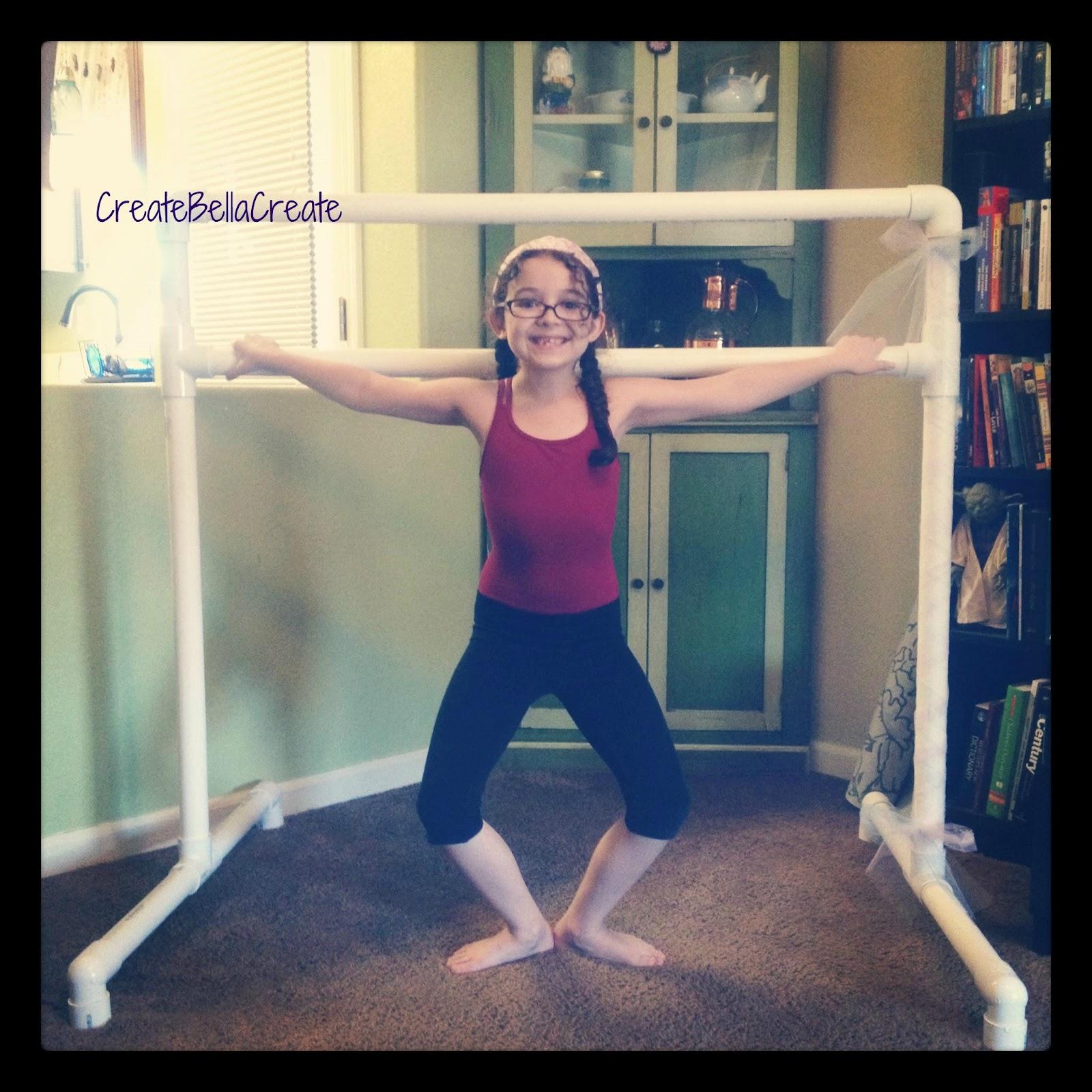 createbellacreate: DIY Tutorial Free Standing Ballet Barre ...