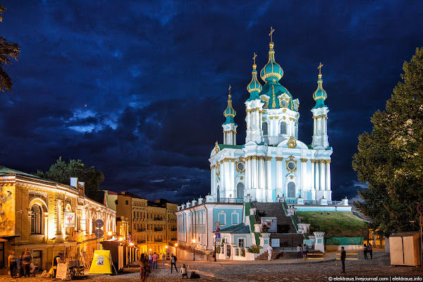 Andrew s Descent and church in Kiev, attractions