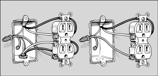 wiring diagram for light switch and outlet in same box taco circulator pump ardinas - canalização, electricidade e reparações
