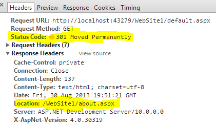 What is 301 permanent and 302 temporary http status code redirection