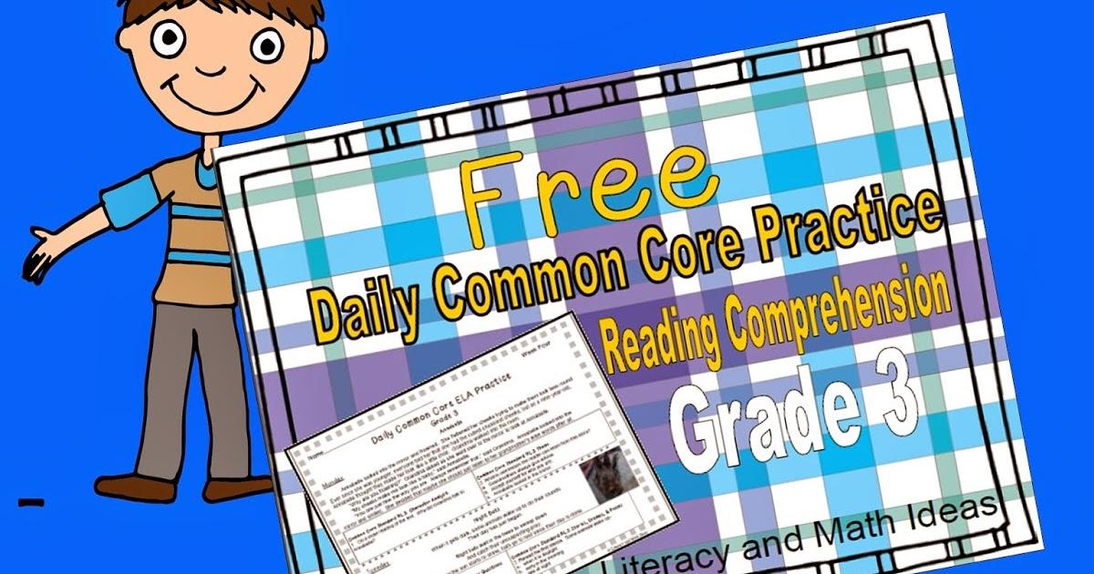 Literacy & Math Ideas: Free Grade 3 Daily Common Core Reading