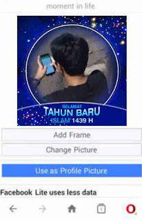 cara mengedit foto profil bingkai tahun baru islam hijriyah