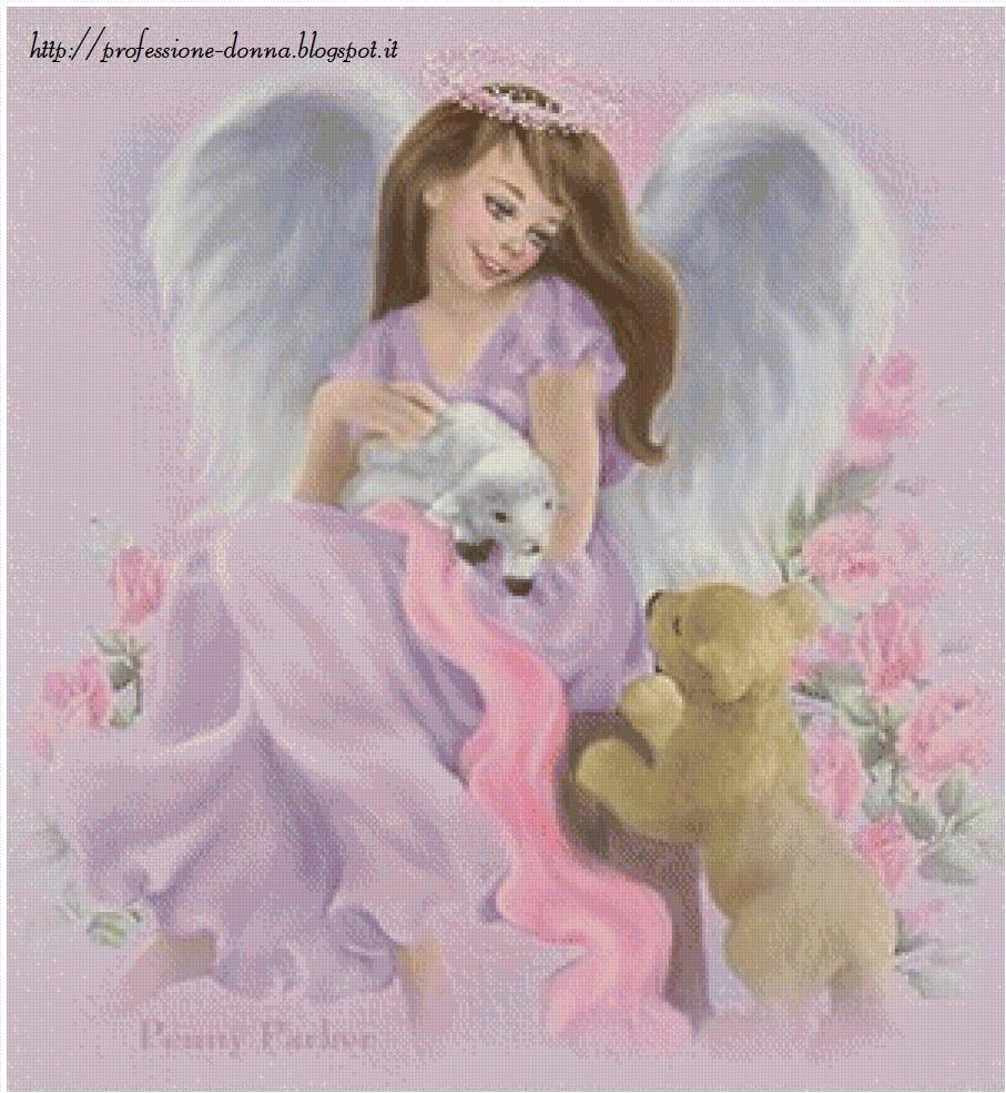 Professione donna schemi punto croce un angelo per san - Schemi animali stampabili ...