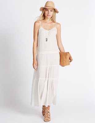 Marks and Spencer Pure Cotton Tier Maxi Dress