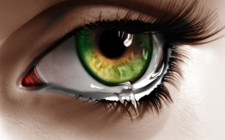 closeup of tear in - photo #24