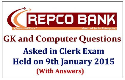 REPCO Bank Clerk Exam