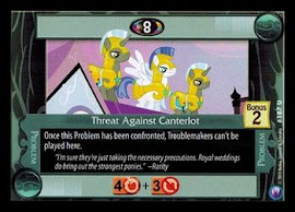 My Little Pony Threat Against Canterlot Canterlot Nights CCG Card