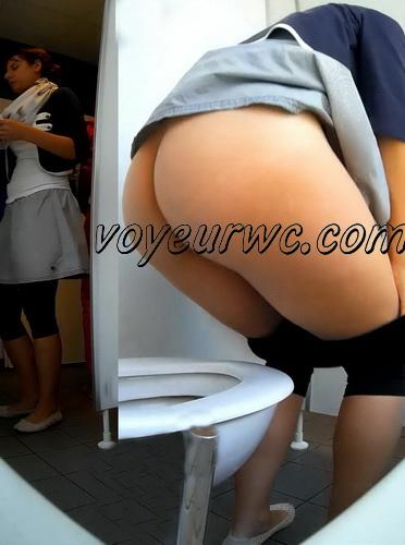 Toilet voyeur loves watching such women peeing (Germany Public Toilet 03)
