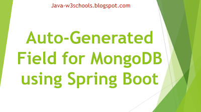 Auto-Generated Field for MongoDB using Spring Boot