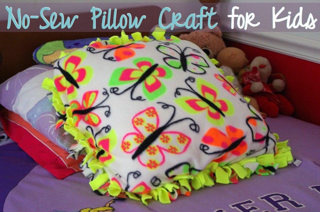 No-Sew Pillow Craft for Kids  a Modern Mrs.