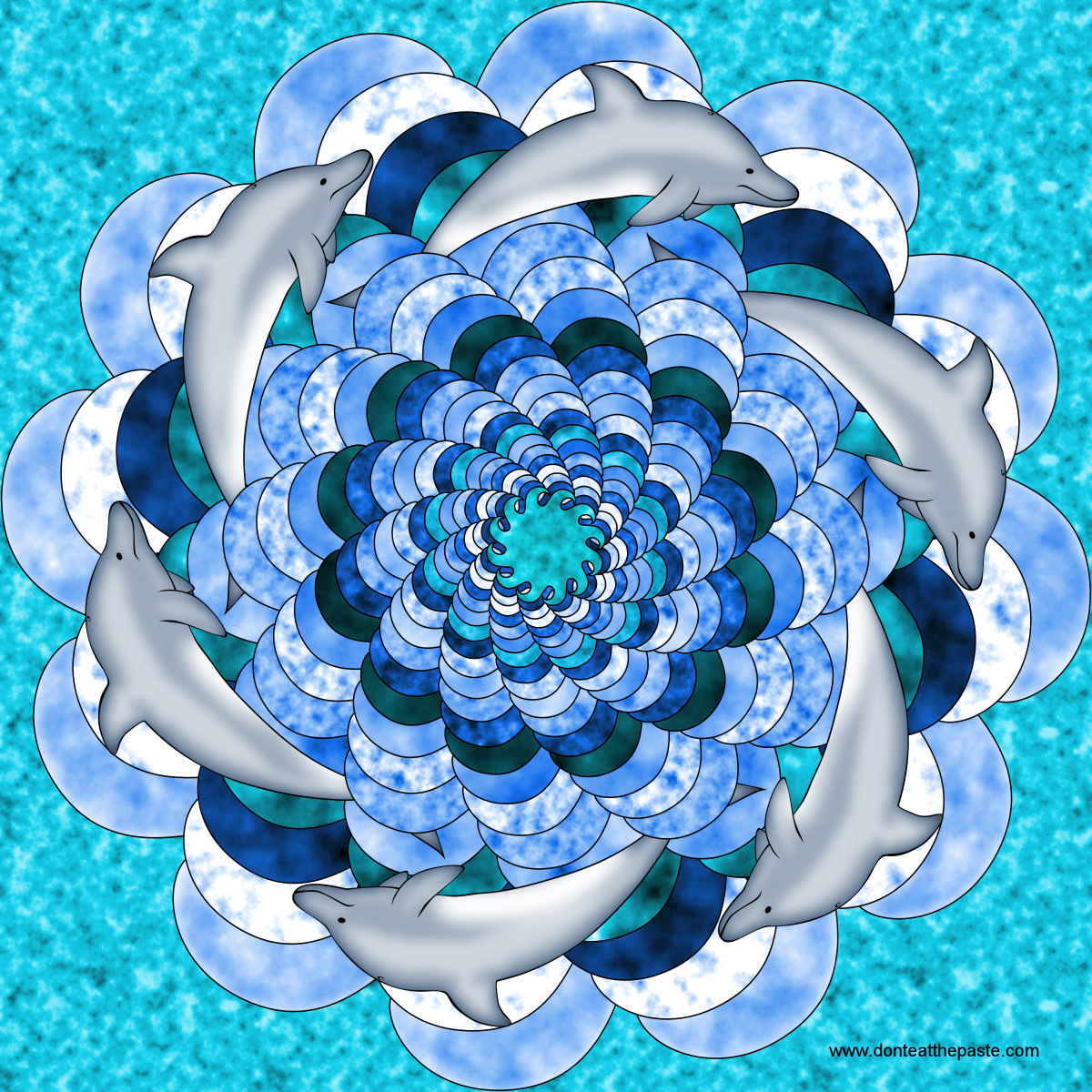 Don't Eat the Paste: Dolphin Mandala to Color