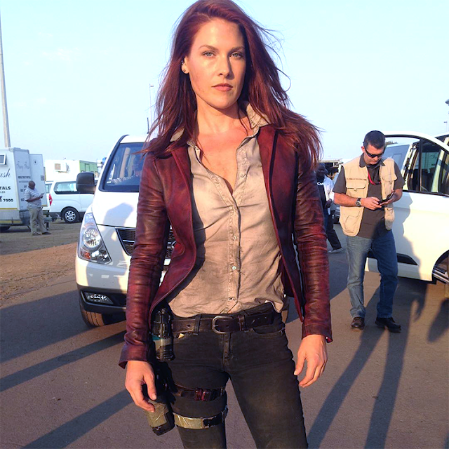 Ali Larter pe platourile de filmare pentru Resident Evil: The Final Chapter