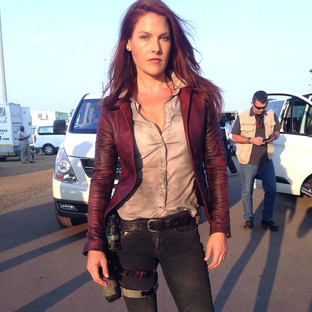 Ali Larter pe platourile de filmare pentru Resident Evil: The Final Chapter