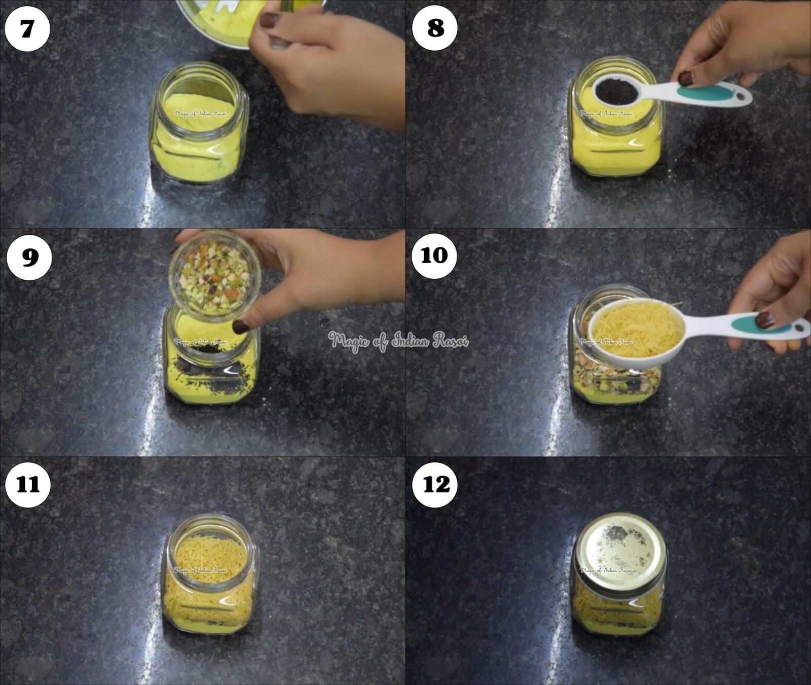 Kesar Pista Falooda Mix Recipe - केसर पिस्ता फालूदा मिक्स घर पर बनाये - Priya R - Magic of Indian Rasoi