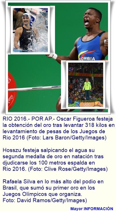 Brasil y Colombia con su primer medalla de oro. Rafaela Silva en judo y Osca