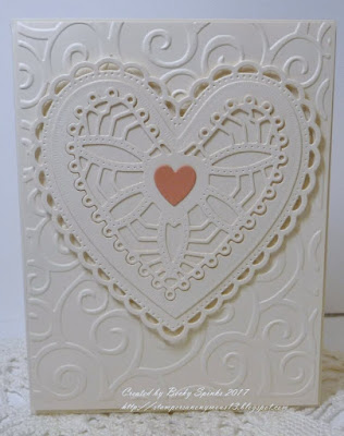 ODBD Custom Ornate Hearts Dies, Card Designed by Becky Spinks