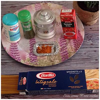 ingredientes espagueti