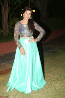 Nikki Galrani in Green Skirt  Top at Marakathamani music launch ~  Exclusive (123).JPG