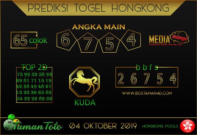 Prediksi Togel HONGKONG TAMAN TOTO 04 OKTOBER 2019