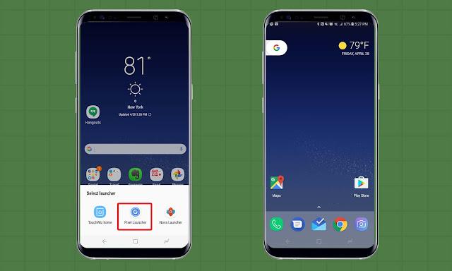 Cara Merubah Tampilan Launcher Android di Galaxy S8 dan S8 Plus
